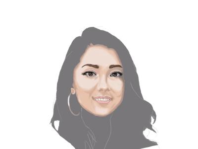 trishala digital portrait digital painting digitalart