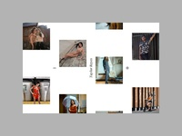 Home page of photographer portfolio