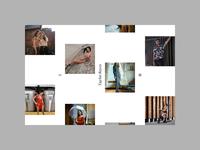 Home page of photographer portfolio