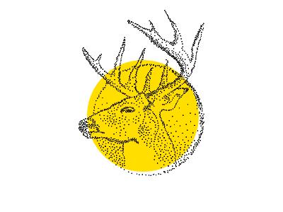 Oh Deer deer dots illustration polka dot