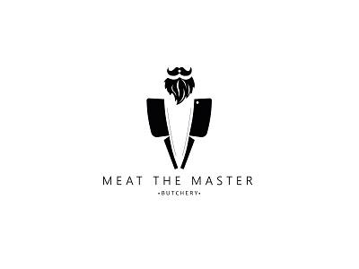 Meat the master black simple logo minimalist logo butcher logo brand identity butchery logo butcher butcery design branding logos logo