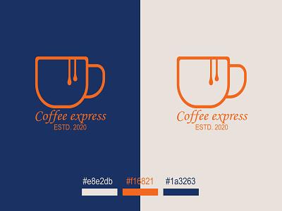 Coffee Express coffee shop coffee mug coffee logos coffeeideas brand identity design minimalist logo logos logo
