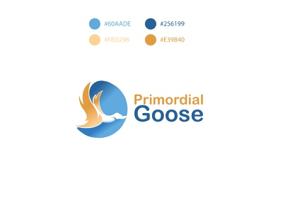 prodominal goose goose logo goose brand identity illustration branding negative space logo negative space minimalist logo design logos logo