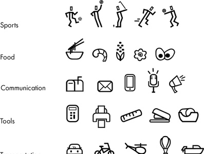 type icons illustration icon