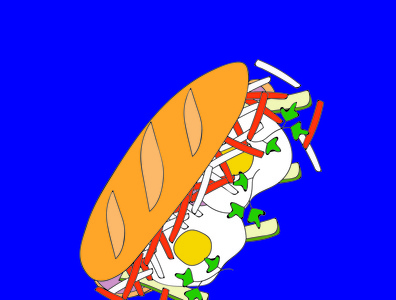 Banh Mi illustration