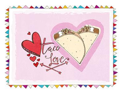 Taco Love graphics clip art for sale fiesta illustration mexican creative market vector graphics taco tuesday taco love