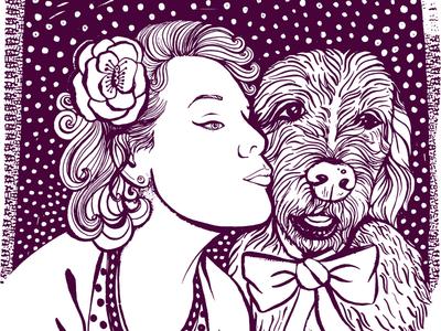 Best friends self portrait dog drawing adobe sketch ipad pro