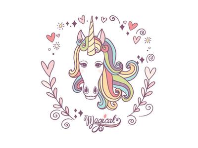 Magical unicorn download graphics clipart magical fantasy illustration creative market unicorn illustrator