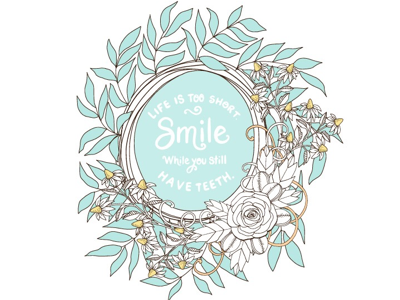 Life is short creative market wreath vector illustration design illustrator