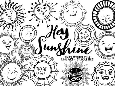 Hey Sunshine! sun vacation summer creative market vector graphics sunshine