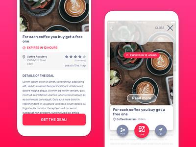Coupon code app MVP prototype discount coupons card ios material design mobile design coupon mobile ui mobile app design mobile