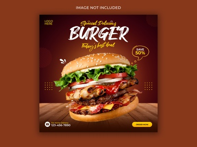 Food Social Media Banner food banner banner ad instagram post banner template brand designs graphicdesign design branding