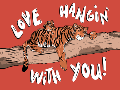 2021 Mother's Day Card card mothersday tiger illustration procreate