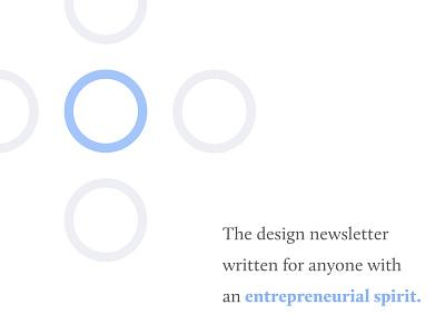 #1—Introducing Venture by Design newsletter website newsletter design newsletter entrepreneur content marketing content business blog post blog design blog banner