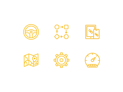 New Client Icons cars automotive iconography icon set icons client icons