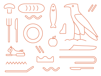Ashkelon Heiroglyphs heiroglyphs icons food egypt