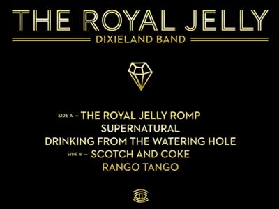 Royal Jelly EP Back Cover vinyl ep screen print gold black typography album art