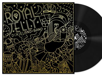 Royal Jelly EP Front Cover ep vinyl gold black album art music screen print illustration