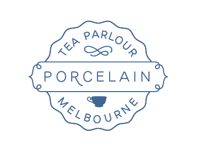 Porcelain Tea Parlour WIP identity logo tea
