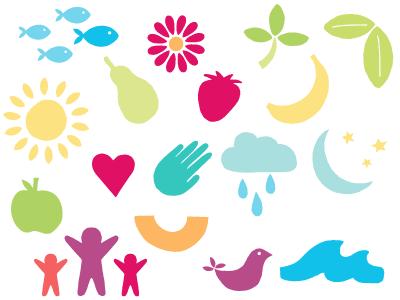 Elwood Chiropractic Centre: Brand Illustrations branding logos illustration hand drawn colorful health chiropractic