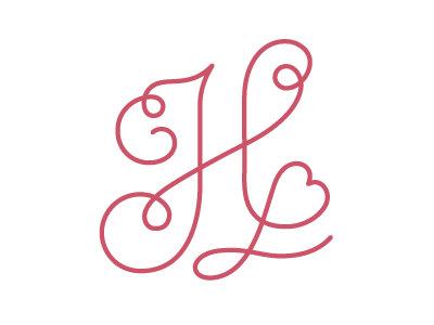 Monogram Logo for Harriet O'Donnell Makeup monogram logo retro curly swash makeup feminine heart curl