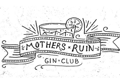 Mothers Ruin Gin Club logo hand drawn