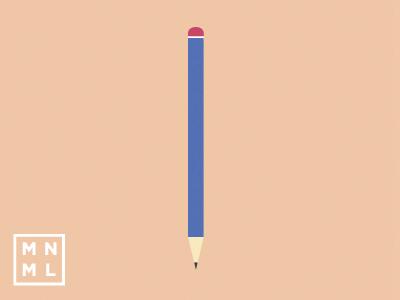 MNML Thing - Pencil mnml thing minimal pencil orange colorful simple design illustration