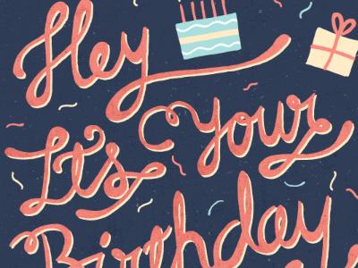 Birthday Hand Drawn Type birthday hand drawn typography texture illustration