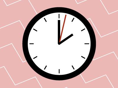 MNML Thing - Clock minimal minimalism clock design illustration pattern