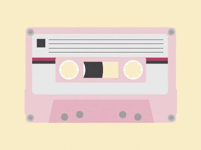 MNML Thin #52 Tape cassette tape minimal minimalism design graphic simple pink yellow retro texture noise