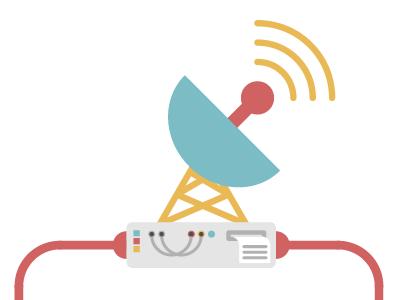 Inventium Process Illustration 1 radar flat colourful scanning wifi red