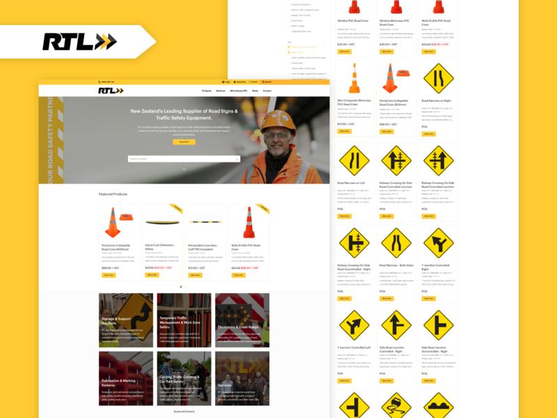 RTL E-Commerce Website ui yellow arrow river digital river elements widgets web safety shopping website design website ecommerce