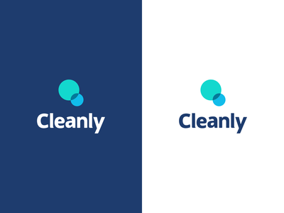 Cleanly Logo teal neutral river digital river branding brand circle bubble blue cleaning cleanly clean sleek simple logo design typogaphy icon icon design iconography