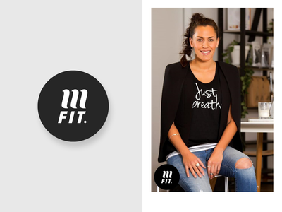 MFIT Brand fitness illustration branding woman quotes clothing sportswear black and white brand clothing brand circle logo strategy river river digital