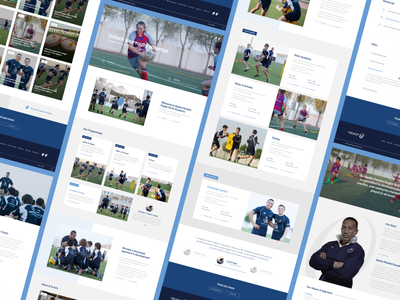 Apollo Perelini Website apollo blue rugby fitness children sports academy webdesign design web clean strategy brand ui ux website river river digital