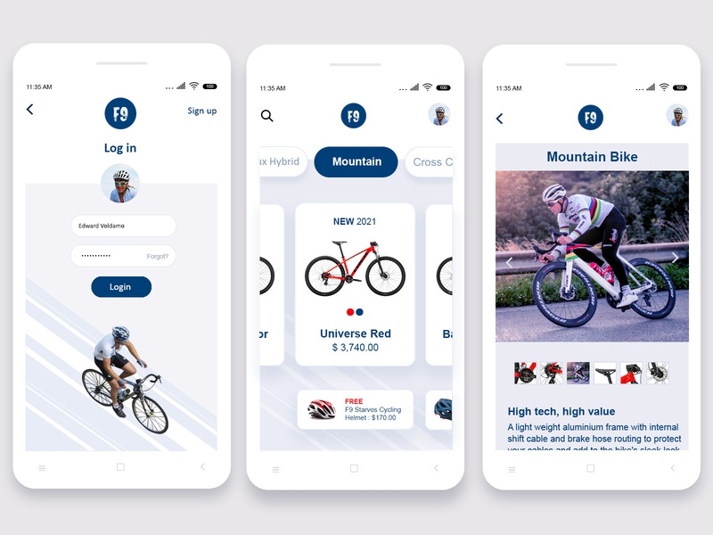 Road Bikes Mobile UI product cycle road bike ui  ux app design mobile design mobile app design mobile app mobile ui minimalist mobile design clean app