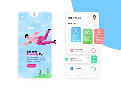 Creative BrainTraining Mobile App-UI/UX design concept clean mobile mobile design minimal ui  ux design branding mobile ui app design ui mobile app design mobile app