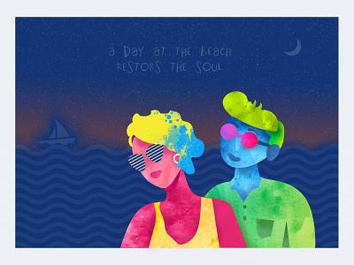 Figure Graphic Design sea graphics graphic design illustration design