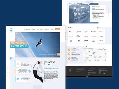 Digital Agency Website UI/UX Design uidesign ui  ux web design digital creative concept clean branding ui website design webdesign website