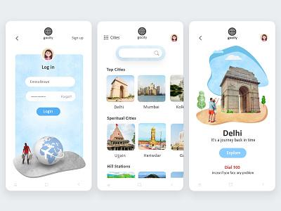 Travel Mobile App UI/UX Design minimal india travel travel app ui design mobile app design app design mobile ui mobile app design ui  ux