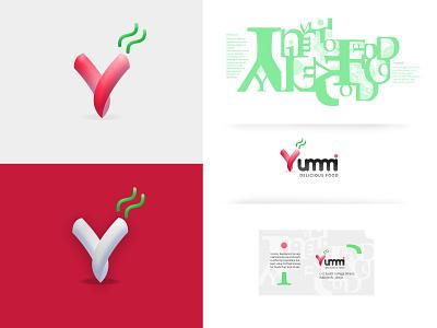 Yummi Food Logo Design food brand brand identity logos logo design graphic design design branding logo