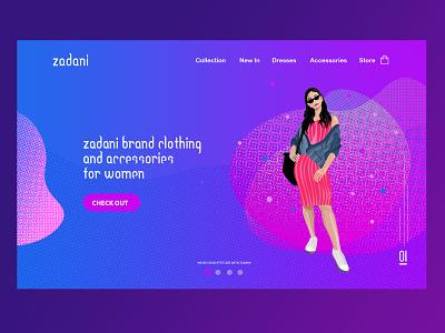 Website UI/UX Design for Fashion ui  ux illustration graphic design branding homepage design home screen landing page landing page design webdesign website design website web design design