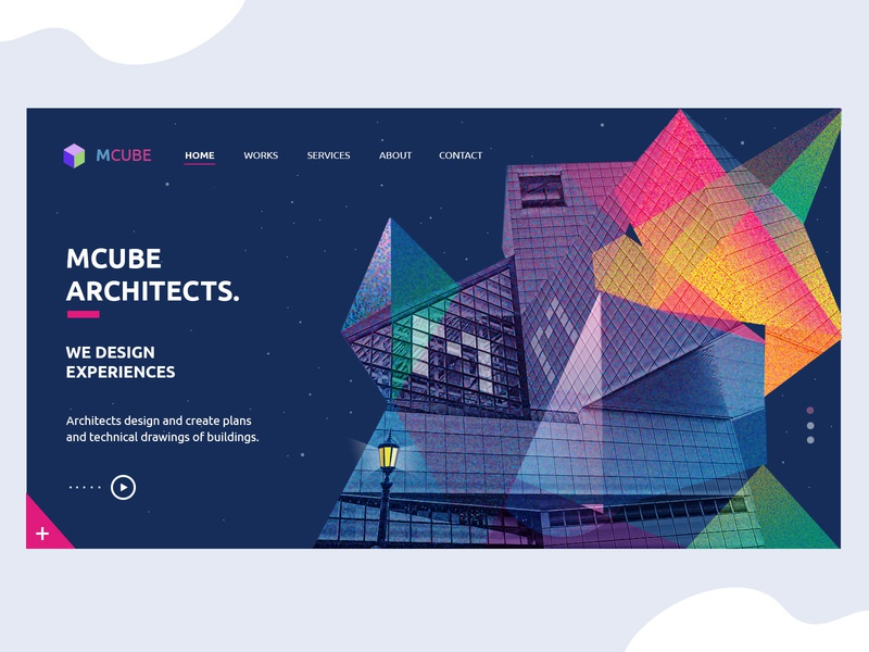 Website UI/UX Design for Architect Firm website design webdesign web design ui  ux landing page design landing page illustration home screen homepage design graphic design design branding