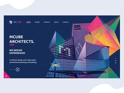 Website UI/UX Design for Architect Firm website design webdesign web design ui  ux landing page design landing page illustration home screen homepage design graphic design design branding