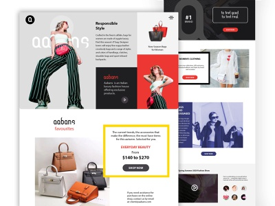 Website UI/UX Design for Fashion website website design web design webdesign ui  ux landing page design landing page home screen homepage design graphic design design branding