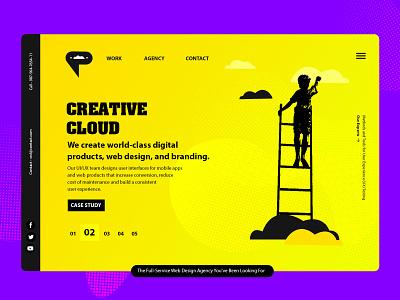 UI UX Design Agency Website landing page design landing page ui website concept minimal creative design ui  ux website design web design webdesign website design