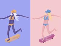 Noodle Skater Girl
