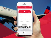 Boarding Pass Concept for Delta Airlines