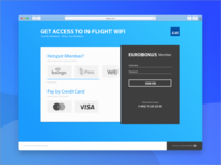 Access Menu to In-Flight WIFI – Concept