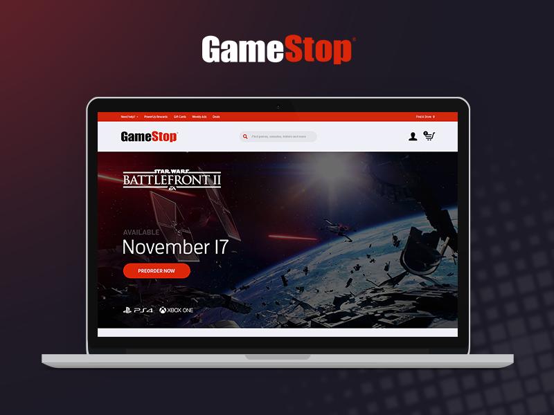 GameStop Frontpage Concept ux graphics ui web game